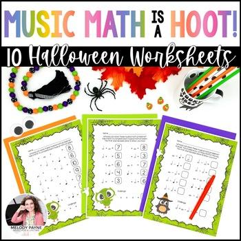Halloween Musical Math Is A Hoot 10 Owl Themed Music Math Worksheets