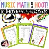Halloween Music Math is a Hoot! {10 Owl-Themed Music Math Worksheets}
