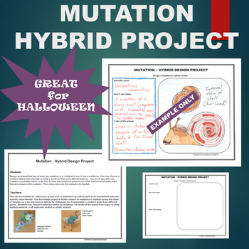 Halloween Mutation Hybrid Animal Design Project Based Learning