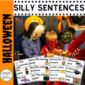 Halloween: My Teacher Eats Bats:  Making Silly Halloween Sentences for 1st Grade
