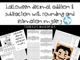 Halloween Mystery: Add & Subtract Decimals With Rounding &