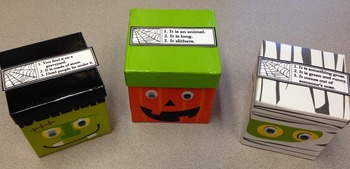 FREEBIE: Halloween Mystery Labels -- Guessing game for Speech therapy & beyond