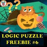 Halloween Mystery Logic Puzzle Freebie #6