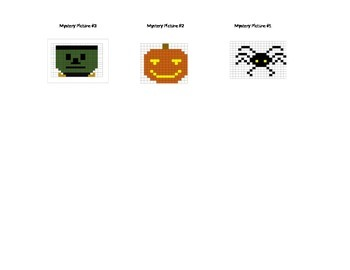 Halloween Mystery Pics #1 - 3 Intro to Coordinate Graphing