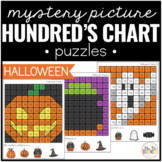 Halloween Mystery Picture Hundred's Chart Puzzles
