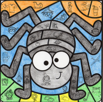 Halloween Mystery Picture ~ L Blends ~ Spider