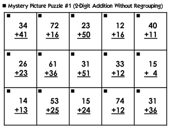 Halloween Mystery Picture Puzzles Addition Amp Subtraction