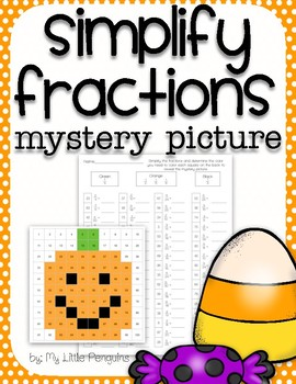Halloween Mystery Picture Simplify Fractions