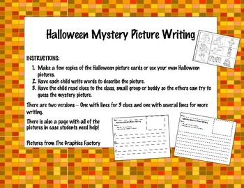Halloween Mystery Picture Writing