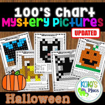 Halloween Mystery Pictures 100's Chart