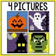 Mystery Pictures Halloween - Addition and Subtraction Facts