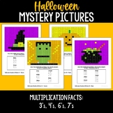 Halloween Mystery Pictures BUNDLE - Multiplication Facts