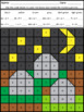 Halloween Mystery Pictures Basic Multiplication and Division Facts