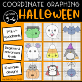 Halloween Mystery Pictures: Coordinate Graphing (4 Quadrants)