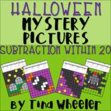 Halloween Mystery Pictures Subtraction Within 20 ~ Fact Fluency