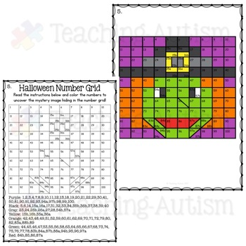 Halloween Activities - Mystery Number Puzzle