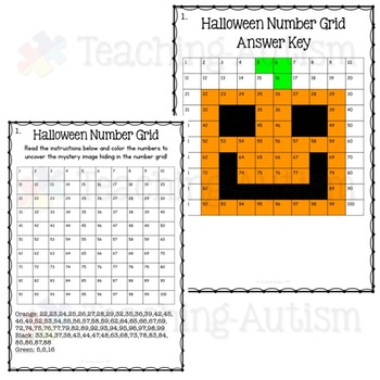 Halloween Math Mystery Pictures