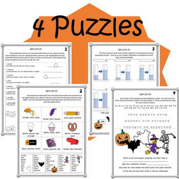 Halloween Mystery- Science Activity Packet