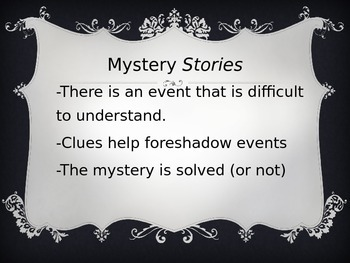 Halloween Mystery Story (Pre-writing visual aid)