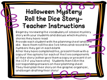 Halloween Mystery Story- Roll the Dice
