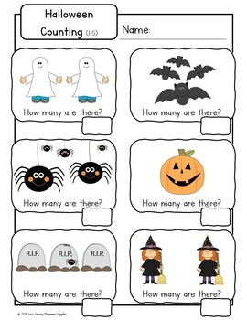Halloween Mystical Maths (Activities, Games & Worsheets) Color & BW