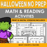 Halloween NO PREP Math & Reading Activities {Print & Digital}
