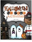 Halloween NO PREP Pack