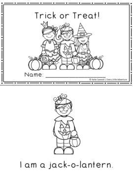 Halloween NO PREP Preschool Printable Pack