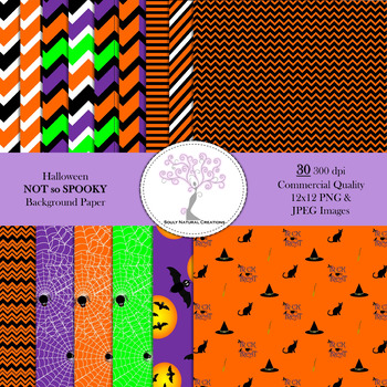 Halloween NOT so SPOOKY Background Paper