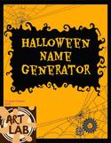 Halloween Name Generator Printable Art and Writing Activity