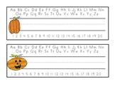 Halloween Name Plates