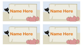 Halloween Name Tags