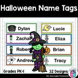 Halloween Name Tags - Editable