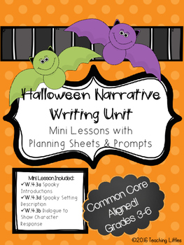 Halloween Narrative Mini Lesson Unit