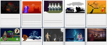 Halloween Narrative 'Plan and Writes' - Visual Prompts- Editable Planning Pages
