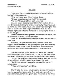 Narrative Writing Sample