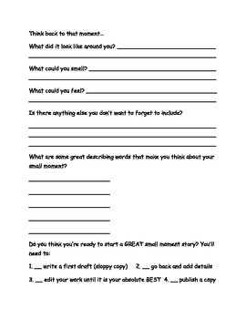 Halloween Narrative Writing Planning Sheet