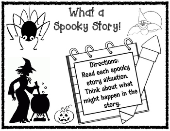 Halloween Narrative Writing Prompts and Organizers for Cre