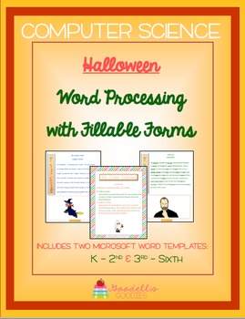 Halloween Narratives - Word Processing with Fillable Forms