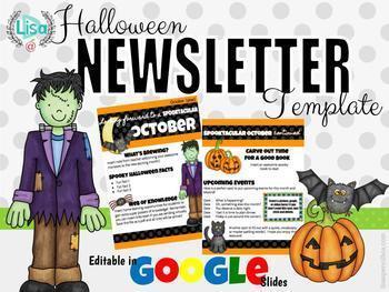 Halloween Newsletter EDITABLE in Google Slides