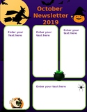 October Halloween Newsletter Editable 2 pages
