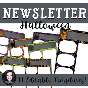 Halloween Newsletter Templates