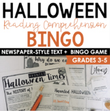 History of Halloween Newspaper Bingo {Informational Text}