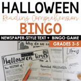 History of Halloween Newspaper Bingo {Informational Text}
