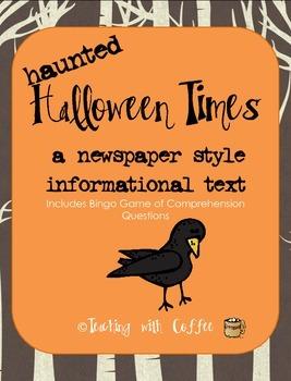 Halloween Newspaper Bingo
