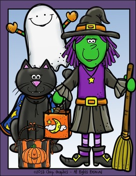 Halloween Night Clip Art Set - Chirp Graphics