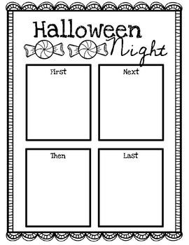 Halloween Night Personal Narrative Mini Unit Freebie