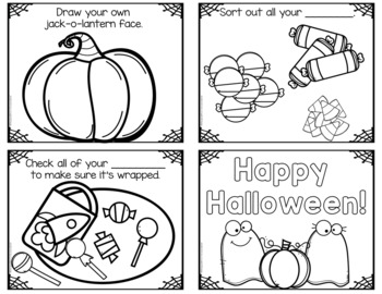 Halloween Night: Safety Tips/Halloween Sights A Color/Write Booklet MINI Version