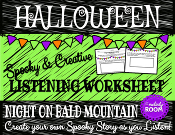 Halloween Music: Night on Bald Mountain Listening Worksheet