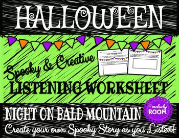Halloween Music: Night on Bald Mountain Listening Worksheet
